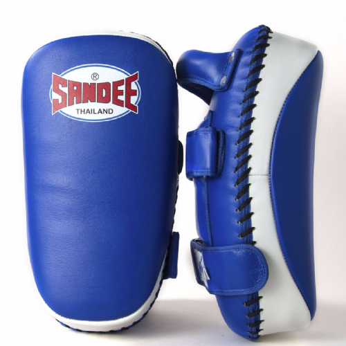 Sandee Curved Thai Kick Pads - Blue